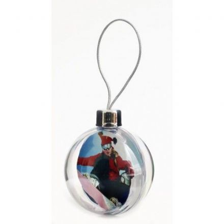 Adventa Acrylic Insertable Christmas Bauble Hanging Decoration